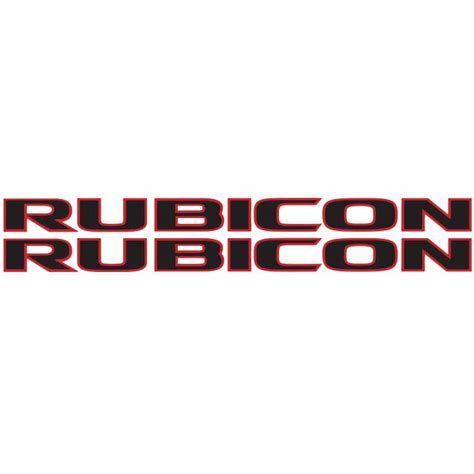 jeep decal rubicon decal blk