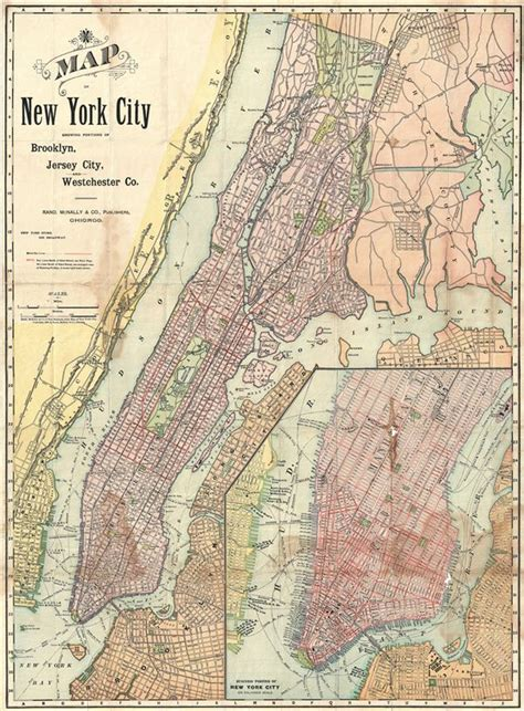 map showing new york map of new york city showing portions of jersey