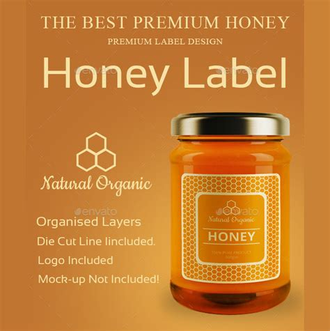 53 Label Design Templates Design Trends Premium Psd Vector Downloads Honey Jar Labels Template