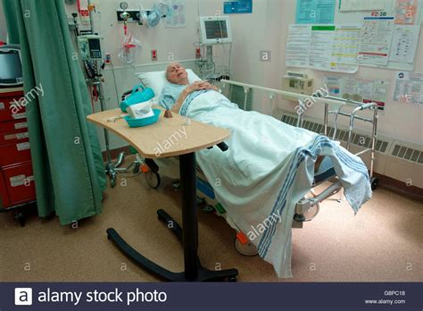 emergency room std testing a 92 year waiting in an emergency examination room in a stock photo royalty free image