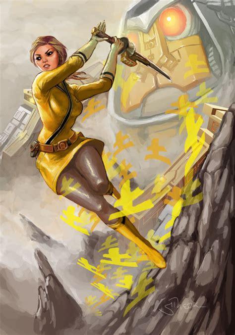painting of power rangers samurai yellow power rangers samurai by sopeh on deviantart