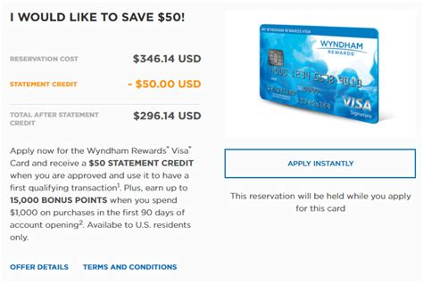Rooms To Go Credit Card Application by Barclaycard Wyndham 15 000 Points 50 Statement Credit