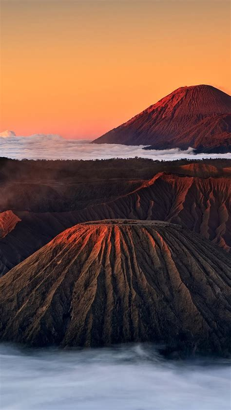 mountains nature volcanoes indonesia east java bromo