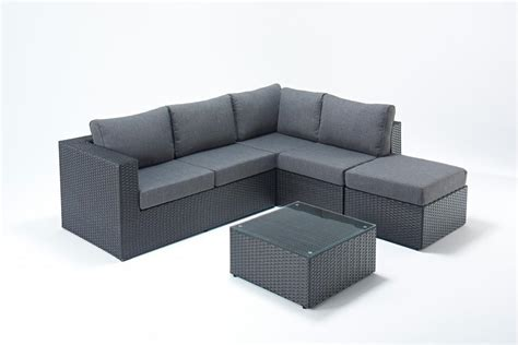 black rattan corner sofa set small prestige black right rattan corner sofa set homegenies