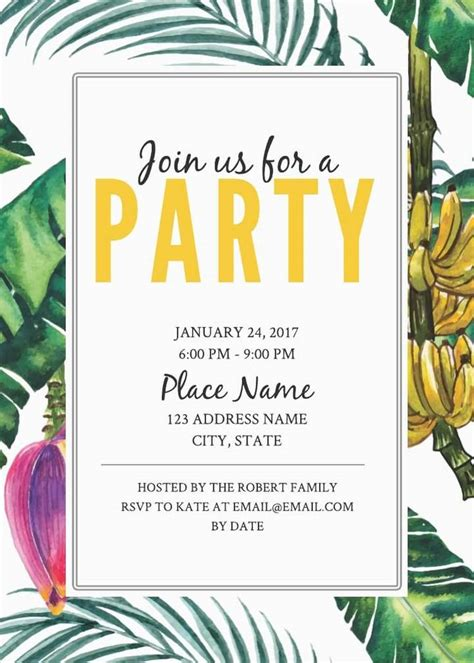 invitation template free 2 free birthday invitation templates exles lucidpress