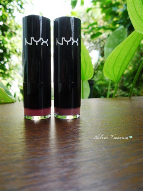 Lipstik Nyx Tea nyx lipstick tea thalia silver treasure