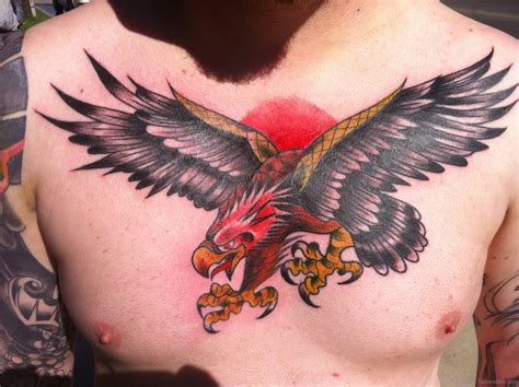 eagle chest tattoos eagle on chest designs