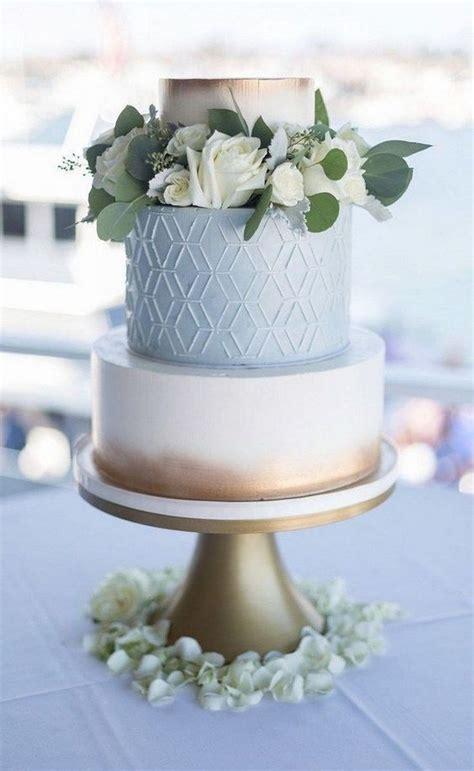 trending  blue wedding cakes   emmalovesweddings