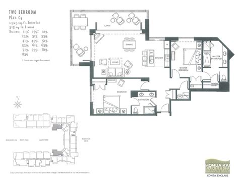 honua kai floor plan honua kai condominiums 213 2bd partial ocean view harris hawaii realty group