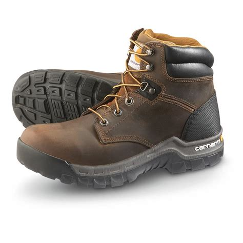 rugged boots carhartt rugged flex soft toe boots brown 569656 work boots