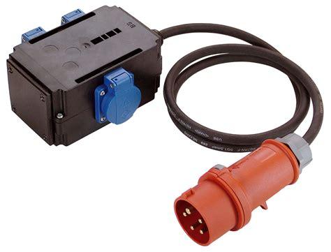 Elcb 16a Kabel stromverteiler mixo mit 3 steckdosen 230v und zuleitung