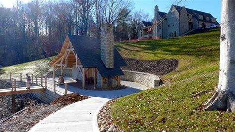 Landscape Timbers Nashville Lakeside Pavilion Craftsman Landscape Nashville By
