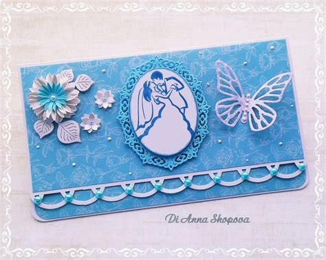 Gift Card Wedding by Wedding Card Handmade Blue Wedding Card Wedding Gift