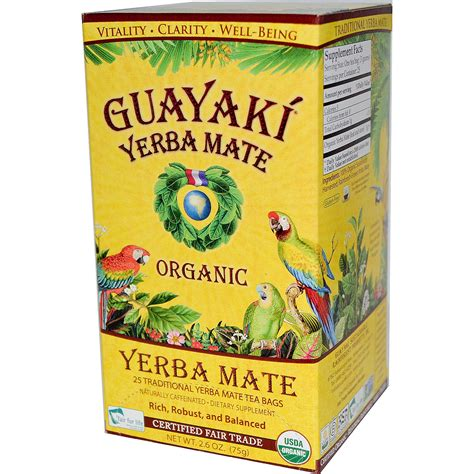 what is matte tea guayaki organic yerba mate 25 tea bags 2 6 oz 75 g