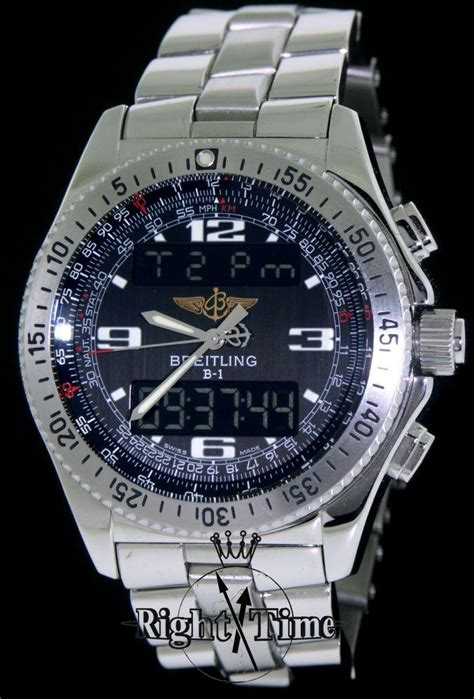 Swiss Time Analog Digital breitling b1 analogue digital a6836223 b509 pre owned