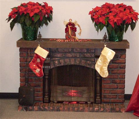 chimney christmas decorations furniture ideas