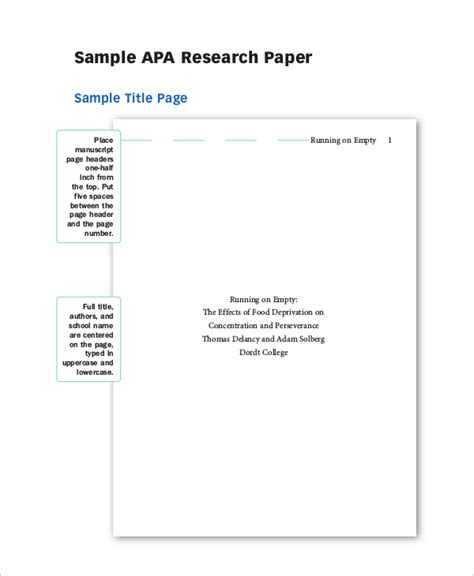 Term Papers In Apa Format by Apa Term Papers