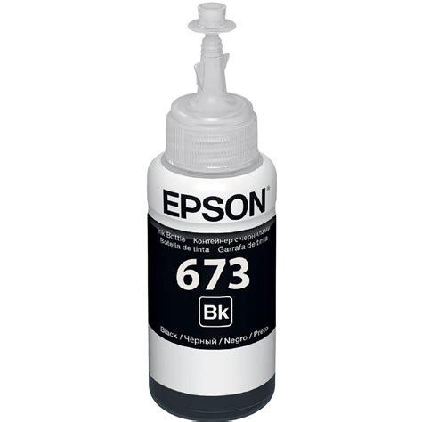 Tinta Ori Epson L1800 Tinta Epson Original Epson T673620 Al Preto Para L800