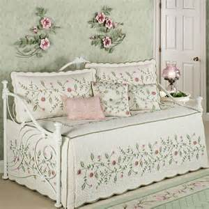 posy quilted floral daybed bedding set