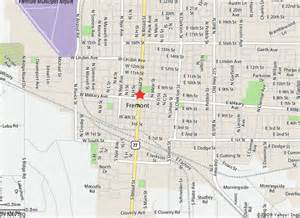 Fremont Ohio Map by Map Of Fremont Ne Nebraska Pinterest