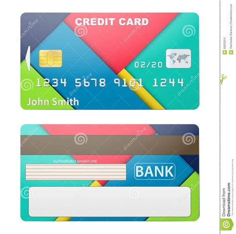 card materials vector illustration of detailed credit card stock vector