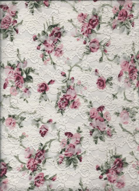 Pink Floral Curtains Texture Lace With Printed Roses Stock By Nathl Fr On