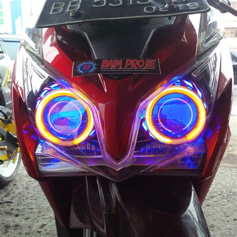 Lu Projector Vario Techno lu led motor vario caferacer 1firts