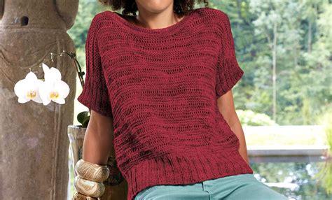 stricken pulli kurzarm pulli mit fallmaschen kostenlose strickanleitung