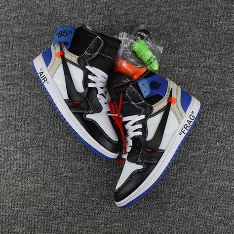 Nike X Offwhite Air 1 Fragment 2017 white x air 1 fragment custom royal blue for sale