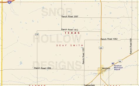 smith county texas map deaf smith county texas color map