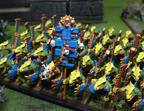 Blue Table Painting by Blue Table Painting Lizardmen Of The Solar City