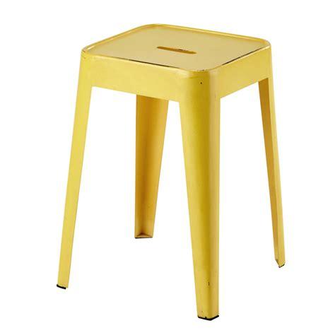 maison du monde sgabelli sgabello giallo in metallo tom maisons du monde