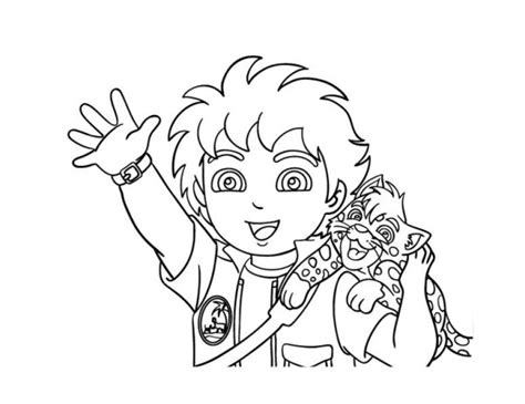 coloring pages baby jaguar diego and baby jaguar coloring page netart