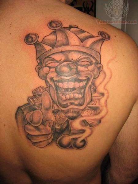 gangster clown tattoos joker tattoos page 19