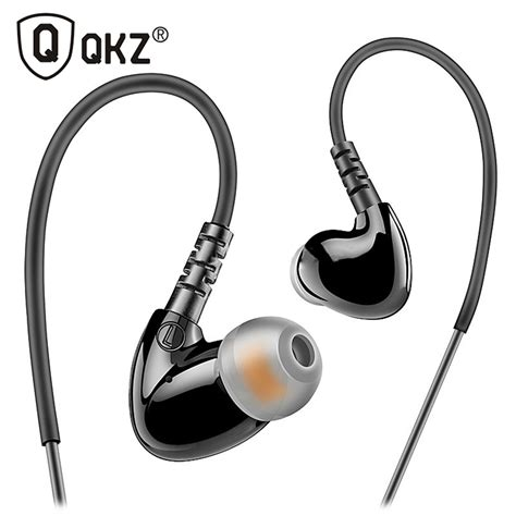 Qkz Stereo Bass In Ear Earphones With Microphone Qkz Dm7 knowledge zenith sport runing bass in ear earphones with microphone qkz s3 black