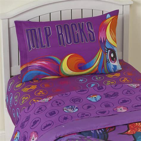 my little pony comforter twin my little pony girl s twin sheet set mlp rocks
