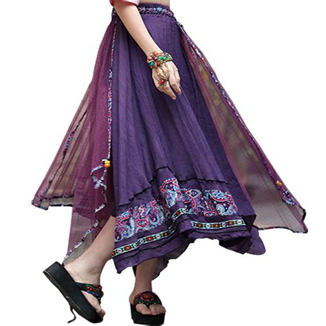 ethnic summer skirt 2017 new bohemian vintage floral