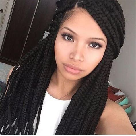 cornrows with side part deep side part box braided halfdodeep side part box