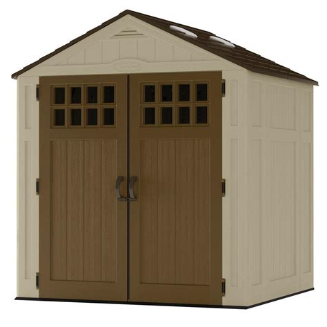 8 Foot By 6 Foot Shed by Suncast Everett 6 Ft 8 In X 5 Ft 6 In Resin Storage Shed Bms6510d The Home Depot