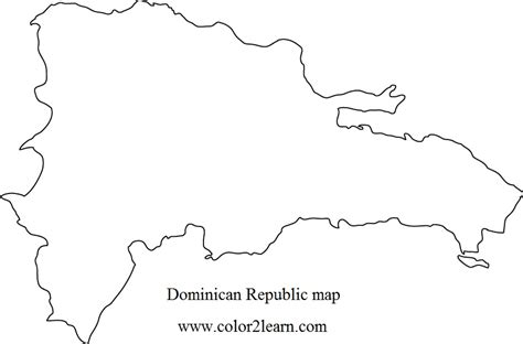 haiti map coloring page blank map dominican republic