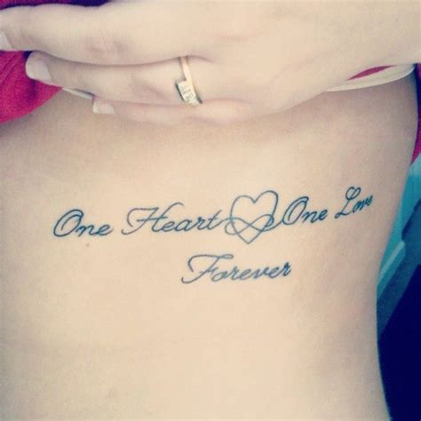 tattoo love always my first tattoo i love it one heart one love forever