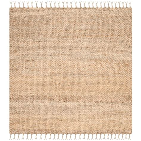 Square Area Rugs 9 X 9 Safavieh Fiber 9 Ft X 9 Ft Square Area Rug Nf733a 9sq The Home Depot