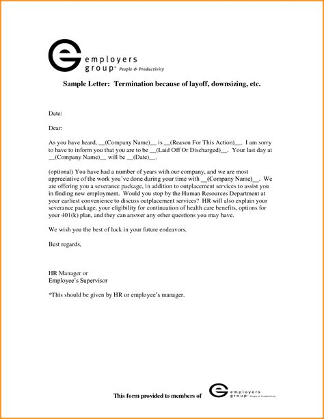 layoff letter template layoff letter template notice authorization layoff