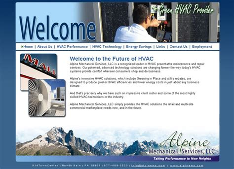 Heating And Cooling Hvac Websites Heating A C Company Website Design Hvac Websites Web Heating And Cooling Website Template