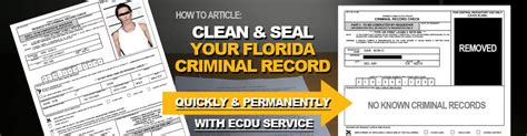 Free Criminal Records Florida Expungement In Florida Records Fl Record Clearing Expunge Info