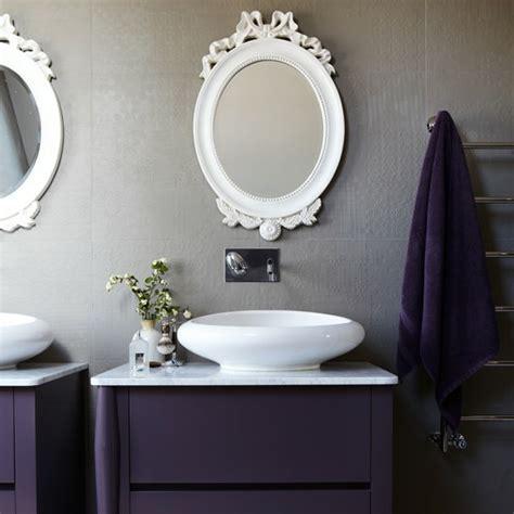 lila und graues badezimmer modernes bad 70 coole badezimmer ideen