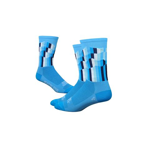Defeet Sock Ridge Suply Blue defeet ridge supply 6 quot aireator the grid blue velo