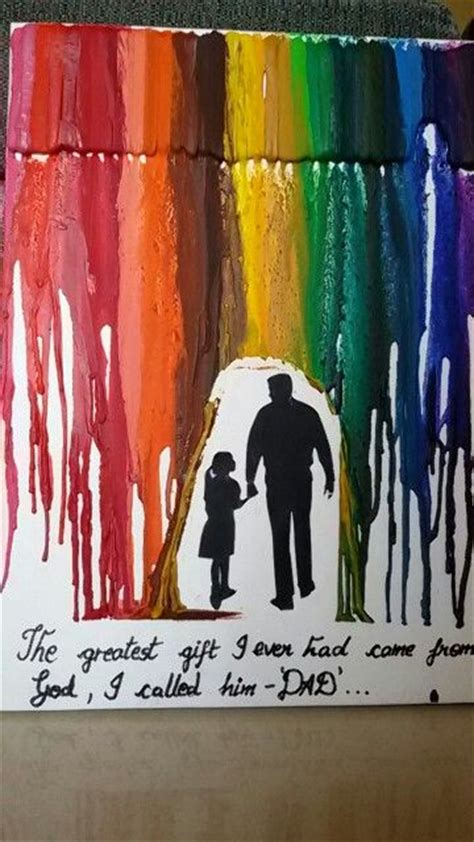 Melted Crayon Art Diy Christmas Gifts For Family