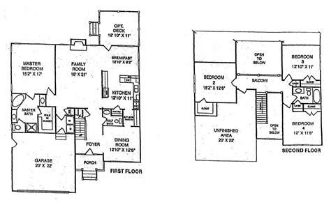 simple 2 story house floor plans datenlabor info