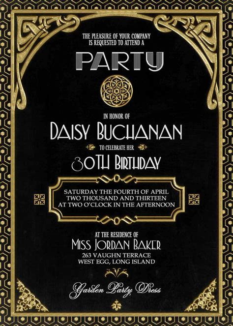 gatsby invite template gatsby invitation deco birthday or bridal shower